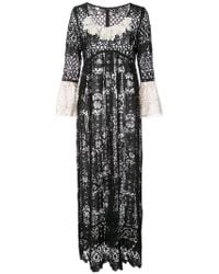 Anna Sui - Floral Medallion Lace Dress - Lyst
