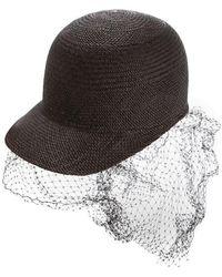 Federica Moretti - Net Panel Hat - Lyst c71857416ffa