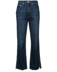 Proenza Schouler - Pswl High Waisted Cropped Jeans - Lyst