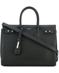 Saint Laurent - Sac De Jour Medium Textured-leather Tote - Lyst