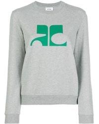 Courreges - Logo Print Sweatshirt - Lyst