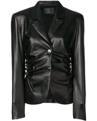DROMe - Ruched Fitted Jacket - Lyst