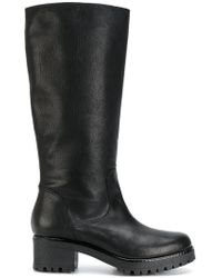 P.A.R.O.S.H. - Chunky Heel Equestrian Style Boots - Lyst