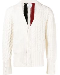 Thom Browne - Striped Knit Cardigan - Lyst