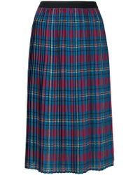 I'm Isola Marras - Plaid Pleated Skirt - Lyst
