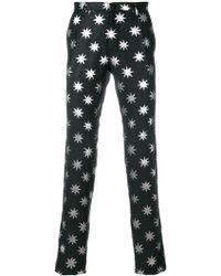 Christian Pellizzari - Star Printed Tailored Trousers - Lyst