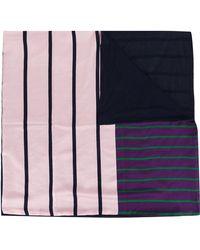 Pierre Louis Mascia - Stripe Panel Scarf - Lyst