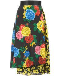 Alice + Olivia - Camellia Bouquet Print Skirt - Lyst