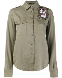 Love Moschino - Embroidered Patch Shirt - Lyst