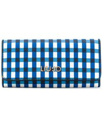 Liu Jo - Check Print Key-holder Wallet - Lyst