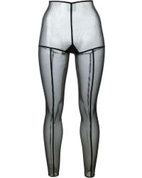 Ann Demeulemeester - Exposed Seam Tights - Lyst