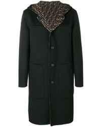 Fendi - Hooded Midi Coat - Lyst
