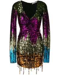 Amen - Rainbow Sequin Mini Dress - Lyst