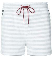 Loveless - Striped Drawstring Shorts - Lyst