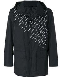 Fendi - Embroidered Motif Raincoat - Lyst