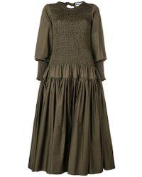 Molly Goddard - Shaan Shirred Dress - Lyst