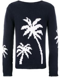 Ermanno Scervino - Palm Intarsia Sweater - Lyst