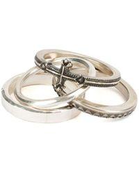 Werkstatt:münchen 'combination Cross' 4 Rings - Gray