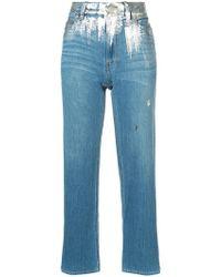 Tsumori Chisato - Metallic Detail Jeans - Lyst