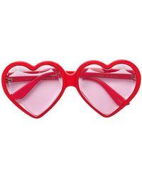 Gucci - Jewelled Heart Shaped Sunglasses - Lyst