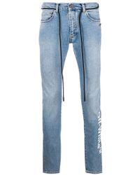 Off-White c/o Virgil Abloh - Jeans mit schmalem Schnitt - Lyst