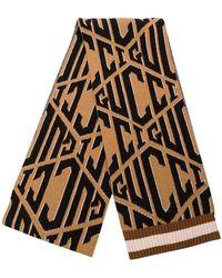 Gucci - Logo Printed Scarf - Lyst