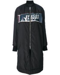 Versus    Zipped Coat   Lyst