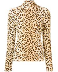 Blumarine - Leopard Print Sweatshirt - Lyst