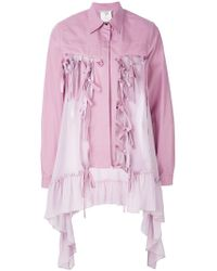 Marco De Vincenzo - Buttoned Ruffle Embellished Jacket - Lyst