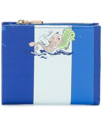 Emilio Pucci - Striped Fish Print Small Wallet - Lyst