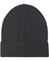 1e3da9c4239 Lyst - Prada Ribbed-knit Beanie Hat in Black for Men