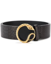 Just Cavalli - Snake Plaque Belt - Lyst