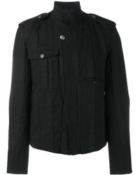 Ann Demeulemeester - Button Up Biker Jacket - Lyst