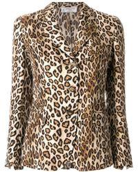 Alberto Biani | Leopard Print Fitted Blazer | Lyst