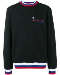 Billionaire - Striped Hem Sweatshirt - Lyst