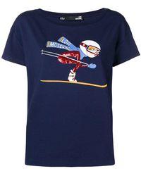 Love Moschino - Printed Cotton T-shirt - Lyst