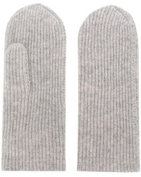 Isabel Marant - Ribbed Knit Mittens - Lyst
