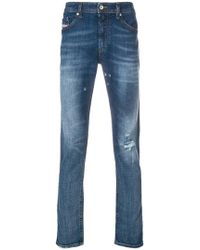 ecffd806b5c DIESEL - Distressed Fitted Jeans - Lyst