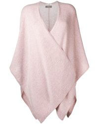 N.Peal Cashmere - Waterfall Knitted Cape - Lyst