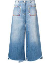 Elisabetta Franchi - Multicoloured Stud Jeans - Lyst
