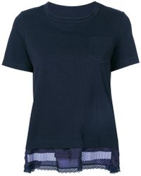 Sacai - Embroidered T-shirt - Lyst