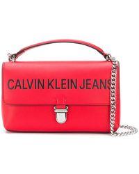 Calvin Klein - Sculpted Flap Shoulder Bag - Lyst