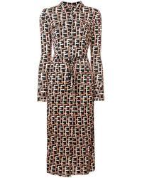 Elisabetta Franchi - Geometric Print Shirt Dress - Lyst