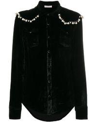 Laneus - Camicia Decorata Con Perle - Lyst