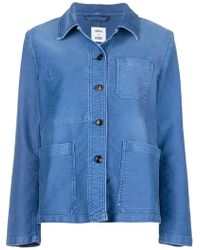 Closed - Button Shirt Jacket - Lyst