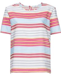 PS by Paul Smith - Striped Shortsleeved Blouse - Lyst