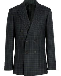 Burberry - Slim Fit Tartan Wool Tailored Jacket - Lyst