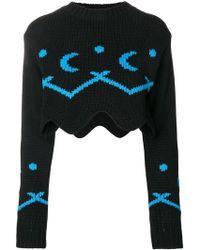 Alanui - Cropped Asymmetric Sweater - Lyst