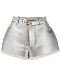 Marni - Flared Lamb Leather Shorts - Lyst