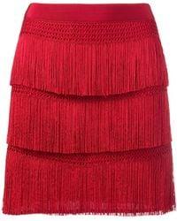 Alberta Ferretti - Fringe Skirt - Lyst